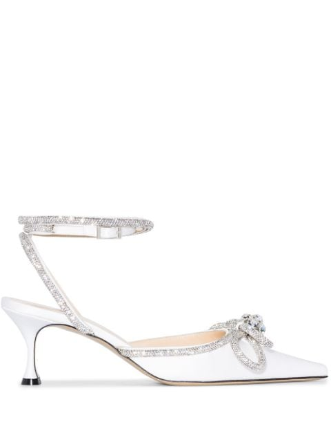 MACH & MACH Double Bow 65mm leather pumps