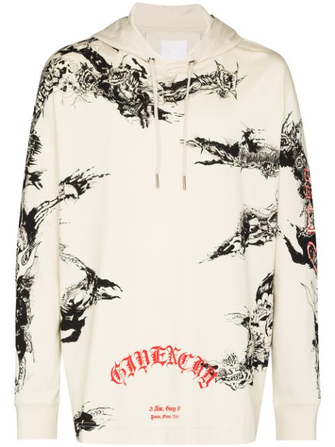 Givenchy GIV PRINTED HD SWT GRY
