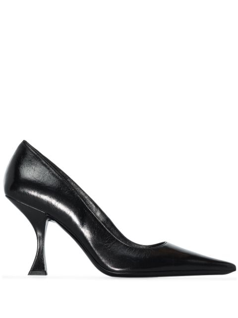 BY FAR Viva Disco leather pumps