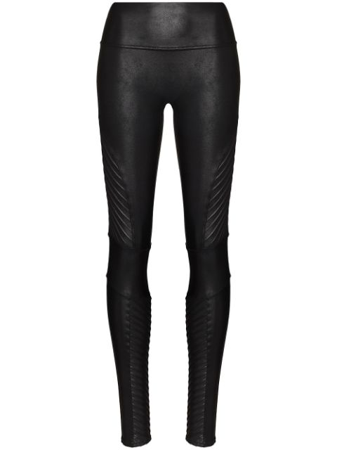 Spanx faux-leather high-rise leggings