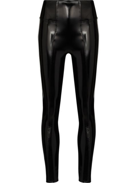Spanx high-rise faux-leather leggings