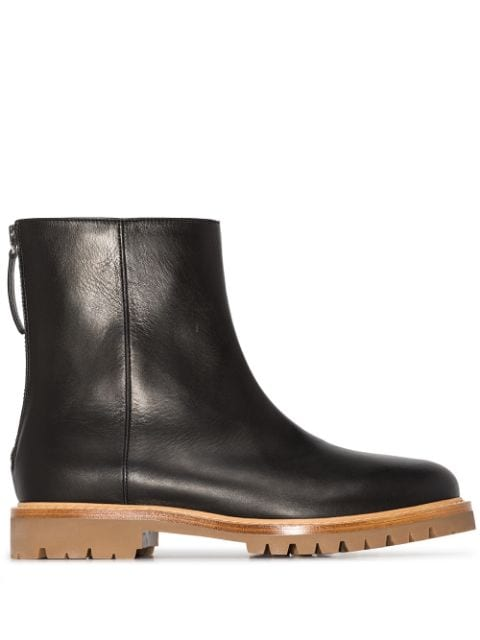 LEGRES New Officer leather ankle boots