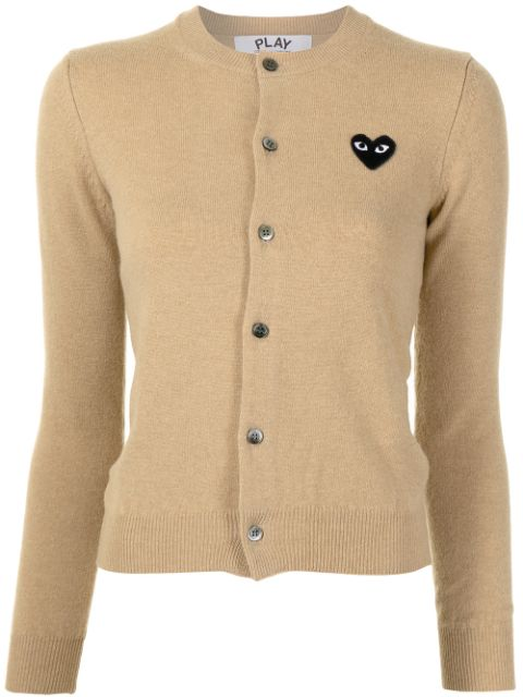 Comme Des Garçons Play embroidered-heart button-up cardigan