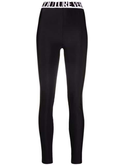 Versace Jeans Couture logo-waistband leggings