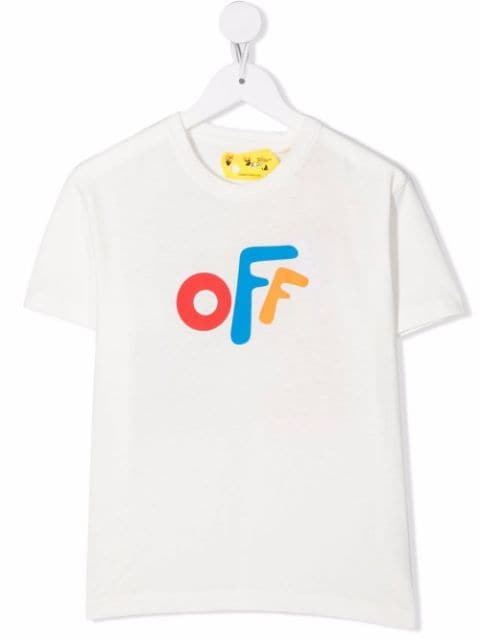 Off-White Kids OFF ROUNDED TEE S/S WHITE MULTICOLOR