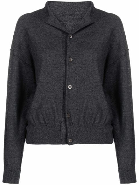 Lemaire reversible rib-trimmed cardigan