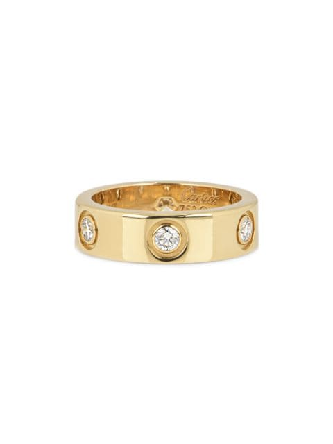 Cartier pre-owned 18k yellow gold diamond Love ring