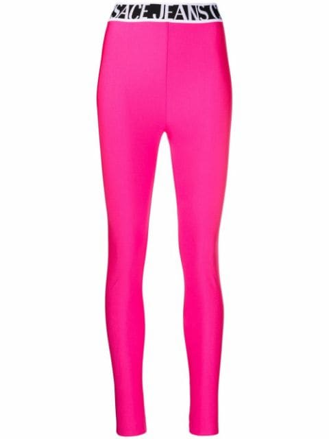 Versace Jeans Couture logo-waistband skinny leggings