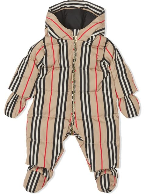 Burberry Kids Icon stripe puffer suit