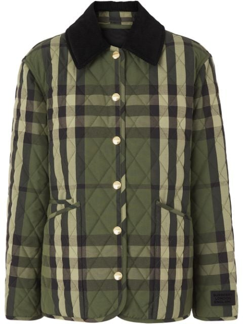 Burberry quilted checked jacket